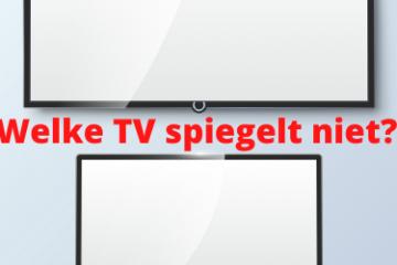 welke tv spiegelt niet